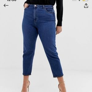 Asos design curve recycled slim mom jeans